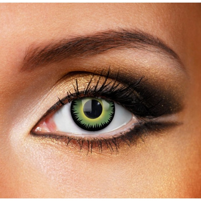 Green Werewolf Contact Lenses (Yearly)
