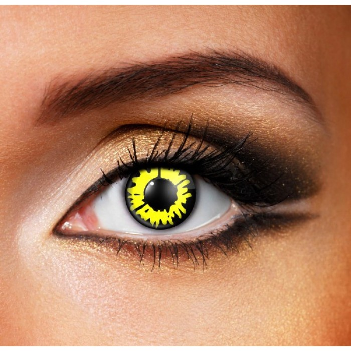 Yellow Werewolf Contact Lenses (Yearly)