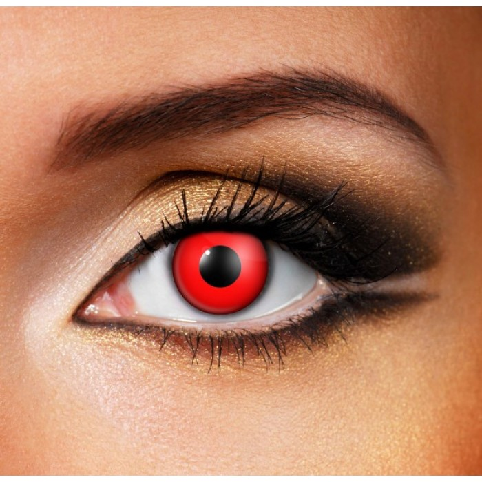 Devil Red Contact Lenses (Yearly)